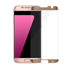 6 Pcs For Samsung Galaxy S7 Edge Tempered Glass Screen Protector Gold