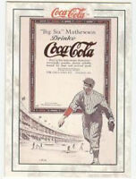 Coca Cola Coke Series 2 Case Card Christy Mathewson