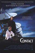 CONTACT Movie POSTER 11x17 Jodie Foster Matthew McConaughey James Woods Tom