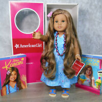 """American Girl 18"""" KANANI DOLL In MEET OUTFIT Necklace Barrette Shoes 2 Books BOX"""