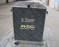 3 core 1932 32 FORD HIBOY HI-BOY FORD CHOPPED Engine Aluminum Radiator