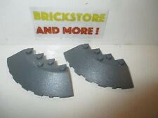 Lego - 2x Brick Brique Round Corner 6x6 facet slope 95188 Dark gray/gris/grau