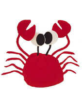 Funny Plush Red King Crab Party Hat Cap Costume Accessory
