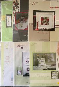 6 x Kreuzstichvorlagen UB Design   Weihnachten + Blumen Neu/unbenutzt
