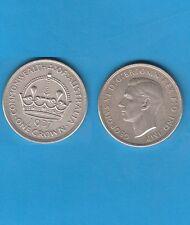 @ Australia Australie Georgius VI 1 Silver Crown 1937   Silver Coin