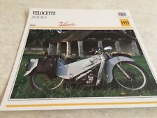 Fiche moto collection Atlas motorbike Velocette 200 LE MkII MK2 1953