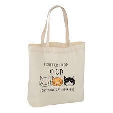Mi soffrono di ossessiva CAT disordine Tote Borsa a tracolla-Crazy Cat Lady OCD