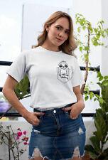 Womens FASHION T-Shirt ORGANIC Not Today SLOTH Lazy Pocket Print Funny Chill Top