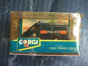 VINTAGE 1991 CORGI FORD TRANSIT POLICE VAN 91640 WITH ORIGINAL PACKAGING