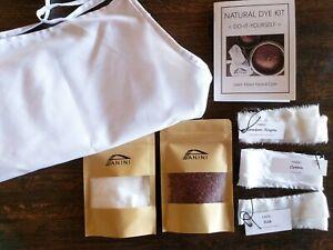 Natural-Dye-a-100%-COTTON-FULL-APRON KIT - Learn Natural Dye -Free Shipping USA