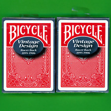 Racer Back Bicycle Playing Cards Vintage Ohio Red Set