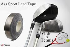 "Sport Lead Tape 100"" X 1/2"" Sticky Back - Swingweight For Golf Club or Tennis"