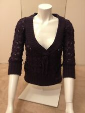 New without tag Miss Sixty Purple V-neck jumper SIze XS/ 3/4 length sleeves