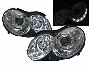 CLK-CLASS W209/C209/A209 03-09 2D R8Look Headlight Chrome for Mercedes-Benz LHD