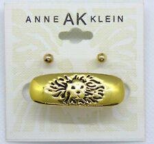 Gold Tone Logo Lion Brooch Pin 🎇 New on Card Anne Klein