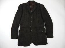 Vintage Montague Burton Harris Tweed Belted Hunting/Field Jacket Men's sz 38 M