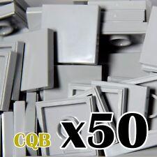 NEW LEGO - TILES - Light Bluish Gray 2x2 - 50x - 2 x 2 - medium stone grey tile