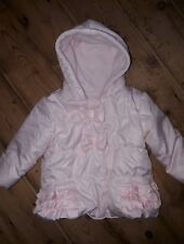 baby pink quilted fleece lined coat size 0--3 months