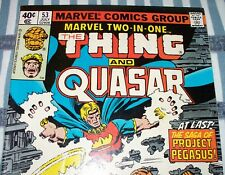 Marvel Two-In-One #53 with Thing & Quasar from July 1979 in Fine con. NS