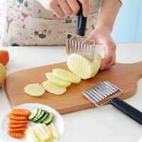 Stainless Steel Potato Wavy Cutter Chopper Vegetable Fruit Slicer Kitchen Tools