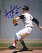 SONNY SIEBERT  BOSTON RED SOX  2 X ALL STAR 66,71   ACTION SIGNED 8x10