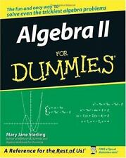 --For Dummies: Algebra II for Dummies by Mary Jane Sterling (2006, Paperback)