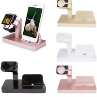Charging Dock Stand Bracket Accessories Holder Kit For iPhone Apple Watch iwatch