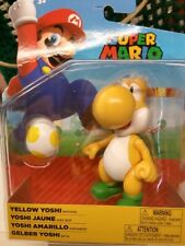 """SUPER MARIO 4"""" YELLOW YOSHI WITH YELLOW EGG  FIGURE"""