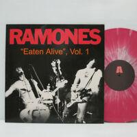 Ramones – Eaten Alive, Vol. 1 LP 2001 ORIG Pink & White Marbled Vinyl MISFITS