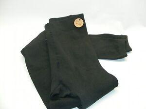 B. O. C. Born Concept Black FLEECE Lined LEGGINGS Women's Large / XL Super Soft