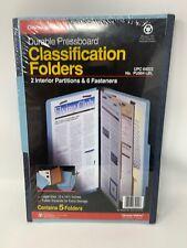 Globe-Weis Durable Pressboard Classification Folders PU564 LBL