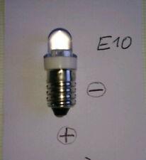 3 Stück E10 6V LED Birne Lampe weißes Licht Energiesparend Gleichspannung