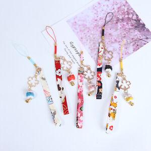 Phone Strap Lanyards Daisy Flower Cat Bell Mobile Phone Hang Rope Charm De J Ei
