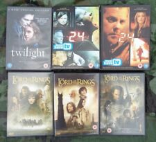 DVDs JOB LOT BUNDLE: The Lord of the Rings Trilogy, Twilight, 24 (boxsets), etc