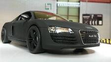 G LGB 1:24 Echelle Audi R8 V8 détaillé Welly Nex Voiture Miniature Noir Mate