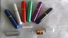 3sets Aluminum Blank Nasal inhaler Aroma purple blue silver black red green