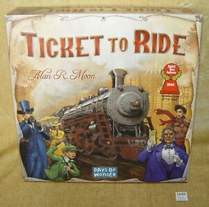 TICKET TO RIDE DAYS OF WONDER USA BOARD GAME ALAN R MOON 2008 #7201 NR COMPLETE