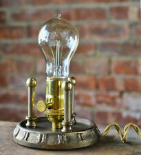 Grunge Base - Antique Brass Grunge Finish - Lamp Base - Light Base - Steampunk