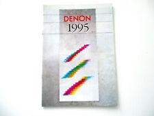 Denon Katalog Prospekt 1995 Hifi Audio Technik Broschüre HI-FI Komponenten