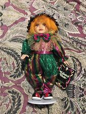 """Collectors Choice Genuine Fine Bisque Porcelain Clown 12"""" Doll #1"""