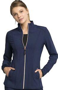 """Statement Scrubs #365 Zip Front Designer Fashion Scrub Jacket in """"Navy"""" Size M"""