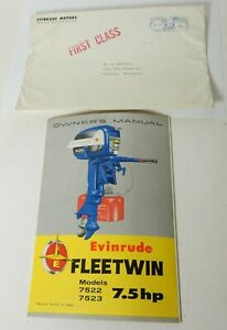 1957 EVINRUDE FLEET TWIN 7522 7523 OUTBOARD MOTOR OWNER'S MANUAL