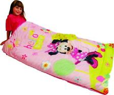 Disney Minnie Mouse Slumber Sleeping Bag For Kids Girl w/ Carry Backpack Sling