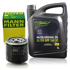 MAZDA 5 Liter 5W-30 Motoröl Öl + MANN Ölfilter Mazda 3 323 5 6 626 CX-7 Original