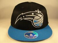 Orlando Magic NBA Adidas Flex Cap Hat Size L/XL Black Blue