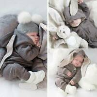 Toddler Baby Infant Boy Girl Rabbit Ear Outfits Romper Costumes Jumpsuit Clothes