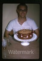 1965 kodachrome photo slide Boy with birthday cake