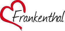 "AUTO Adesivo ""Frankenthal"" Sticker Città Germania circa 8x16cm konturgeschn."