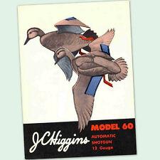 JC HIGGINS MODEL 60 AUTO SHOTGUN OWNERS PARTS GUN MANUAL INSTRUCTION 12 GUAGE GA