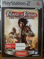 PS2 Game Prince Of Persia The Two Thrones Platinum GREAT CONDITION Manual